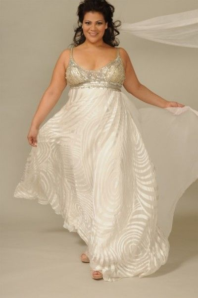 plus size  beige dress #bridemaidshair