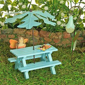 Wondrous Duck Egg Picnic Bench Fairy Gardens Fairy Ts Garden Gmtry Best Dining Table And Chair Ideas Images Gmtryco