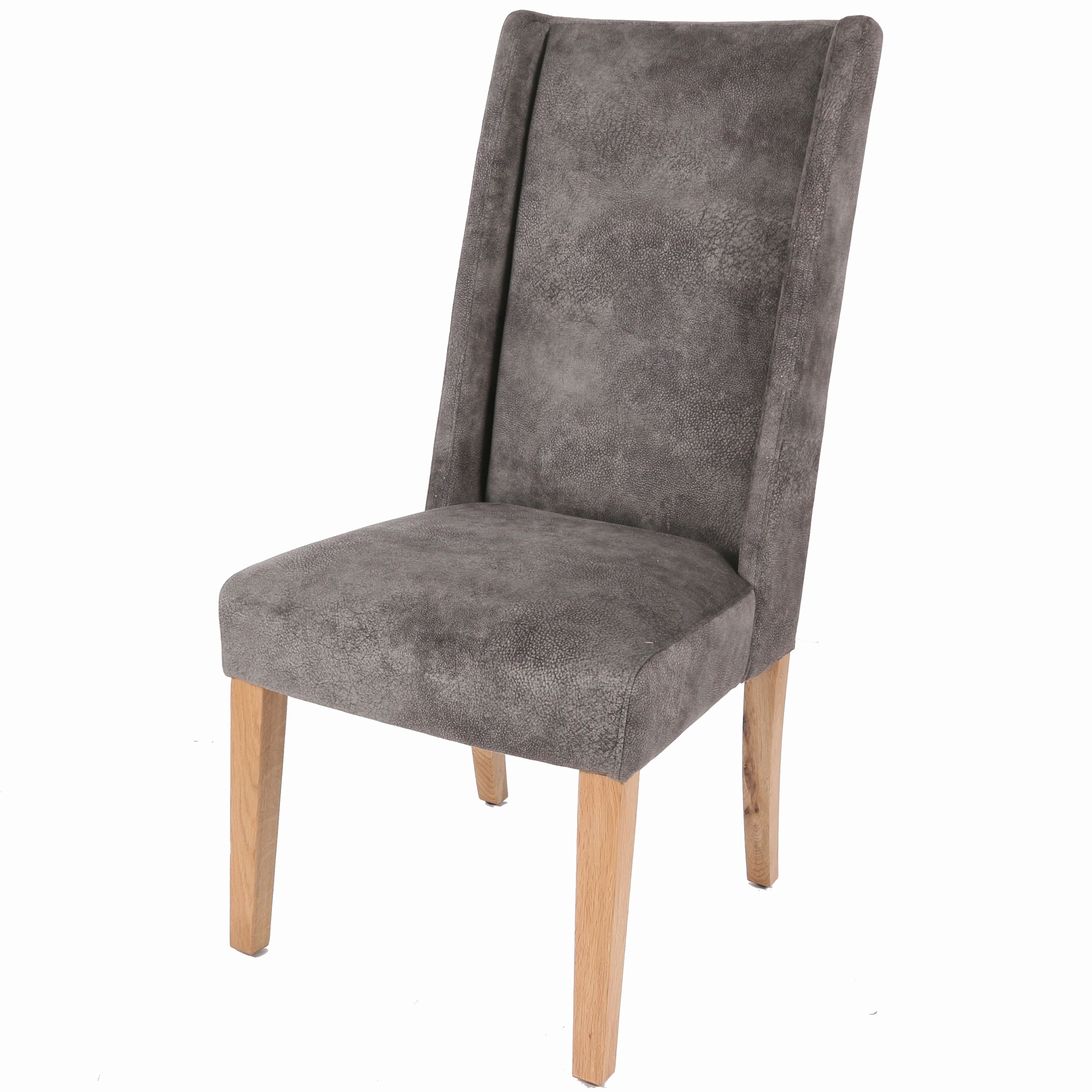 Lucas KD Fabric Chair Natural Wood Legs, Pewter Hide - NPD Furniture