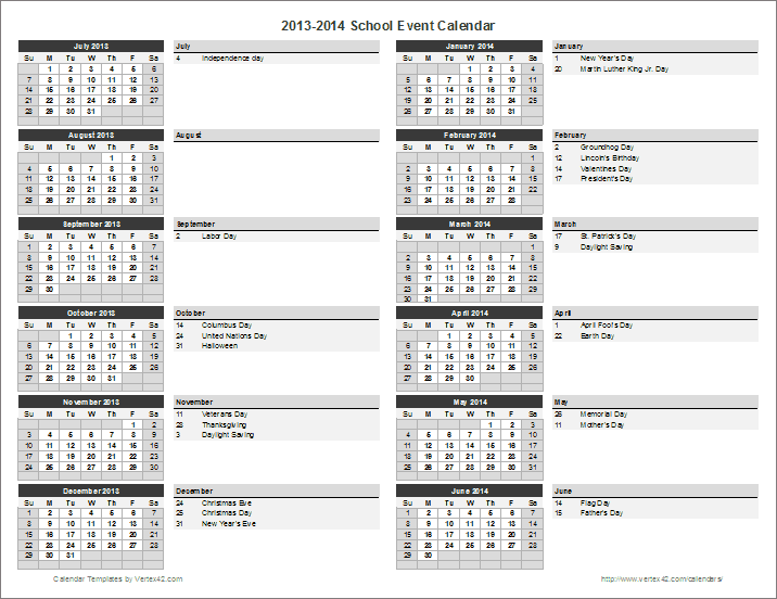 School Event Calendar Years Can Be Changed Automatically Pto