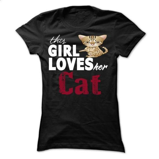 This girl love her cat - #champion hoodies #customized sweatshirts. BUY NOW => https://www.sunfrog.com/Pets/This-girl-love-her-cat-6045988-Ladies.html?id=60505