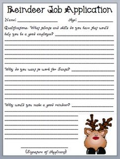 Reindeer Christmas project - good lesson on writing from a different point of view. This is a MUST DO for 5th graders at Christmas