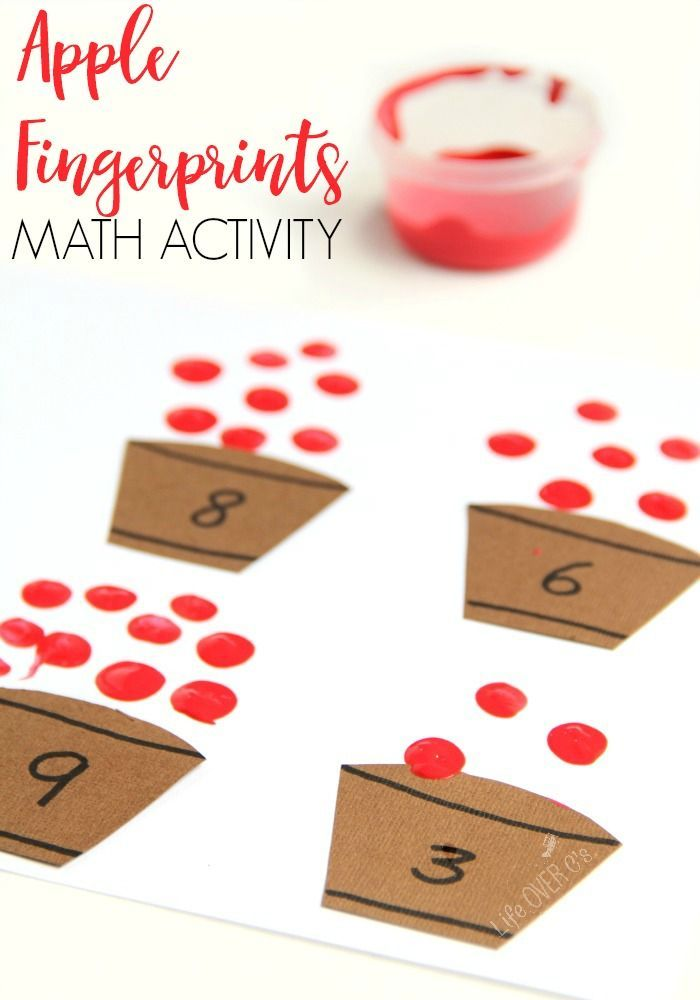 Low-prep apple counting activity for preschoolers | Math ...