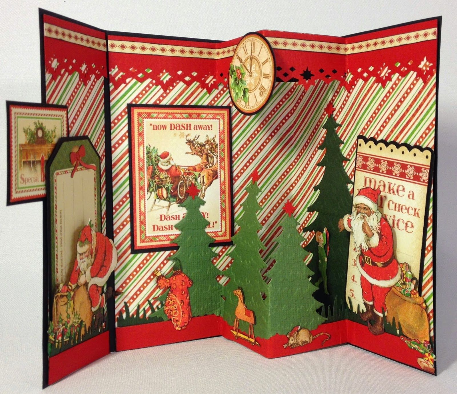 annes papercreations: Graphic 45 Twas the Night Before Christmas Envelope 3D cards