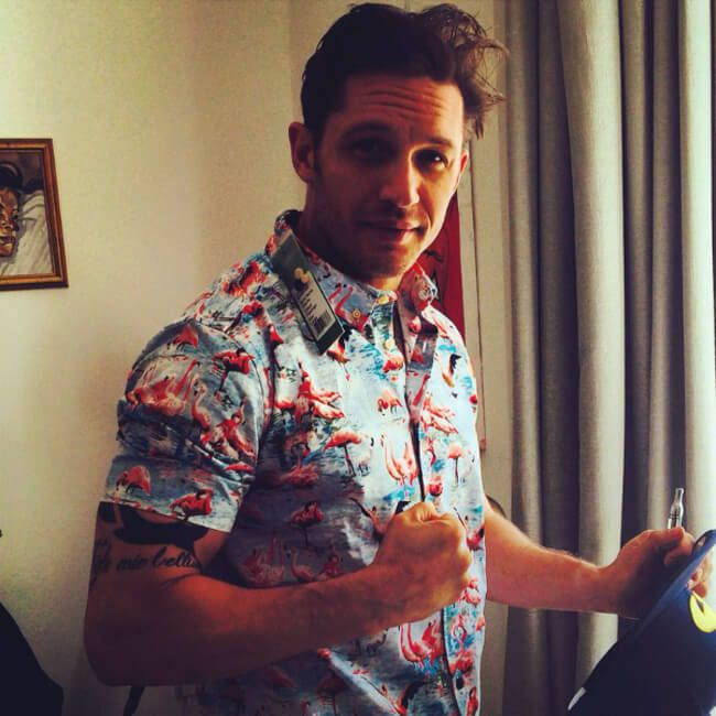 Tom Hardy looking better than ever with his summer shirt