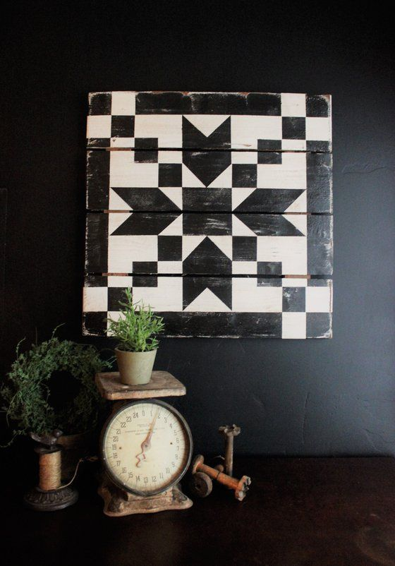 Image of Pointed Arrow Barn Quilt - Black
