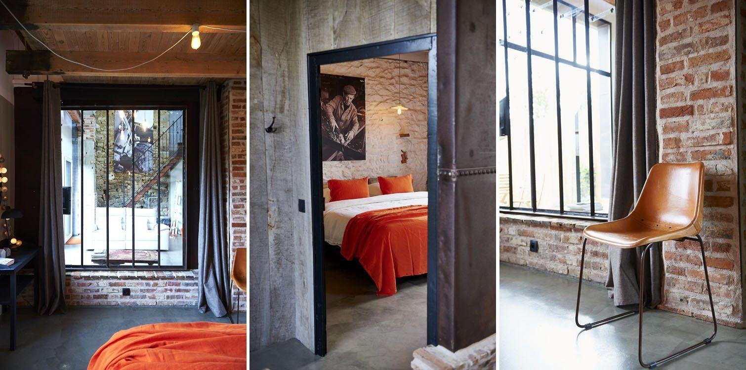 Ferienhaus In Der Bretagne Mit Großzügigem Schlafzimmer Im Loft Stil .