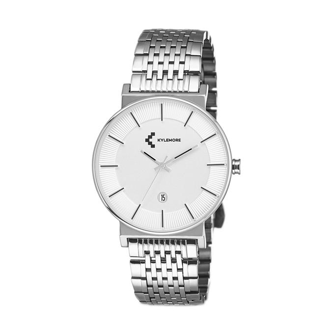 ساعة رجالية من كايلمور Km 0076 فضي نايس ون Silver Watch Accessories Silver