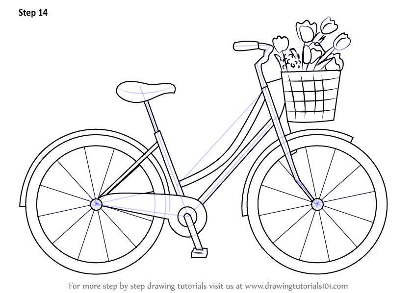 Learn How To Draw A Cute Bicycle Two Wheelers Step By Step