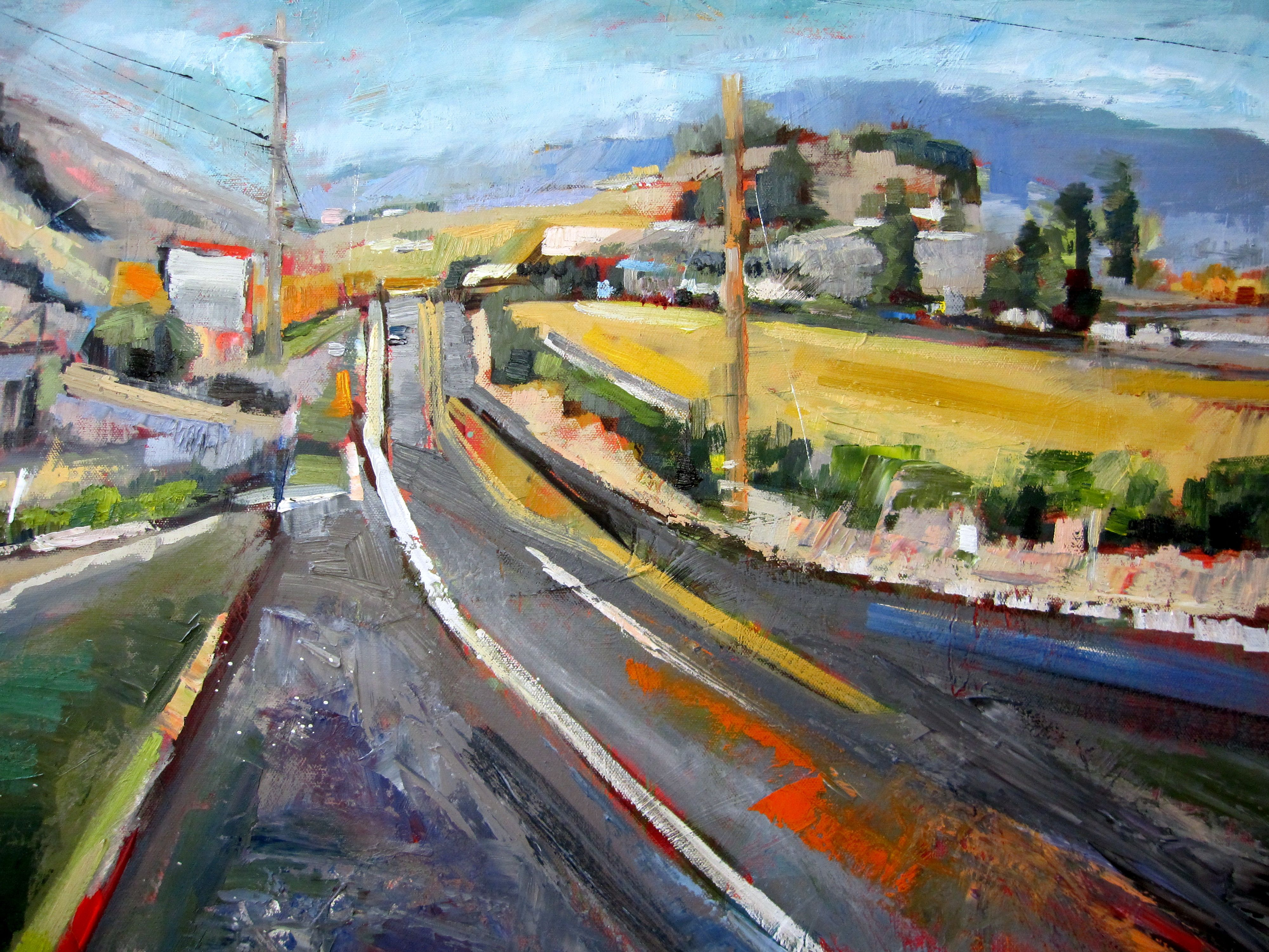 Abstract Landscape Painting Joy Ride 2 By Kim Ford Kitz Kimfordkitz Com Landscape Paintings Abstract Landscape Landscape
