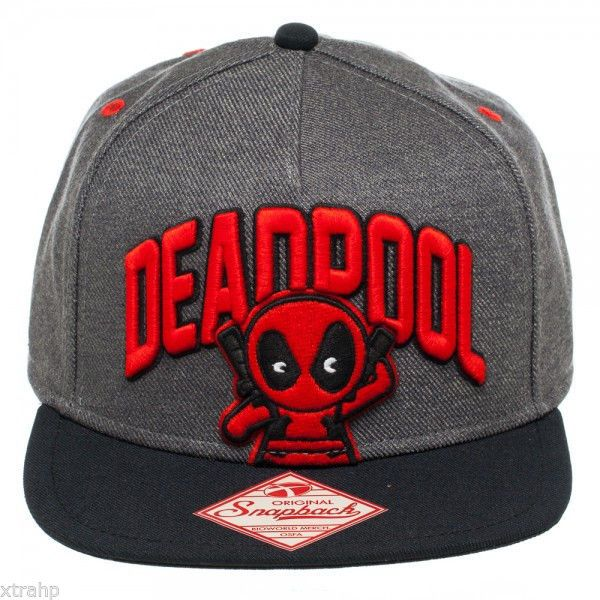 Marvel Kawaii Edition Deadpool Baseball Snapback Hat Cap Licensed Adult 3e216a913851