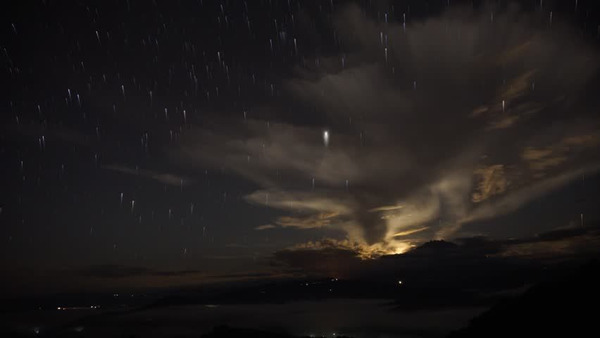 Time Lapse Of The Moonrise And Stars Trails Over Mount Kinabalu Sabah Malaysia Borneo Stock Footage Video 8220784 - Shutterstock