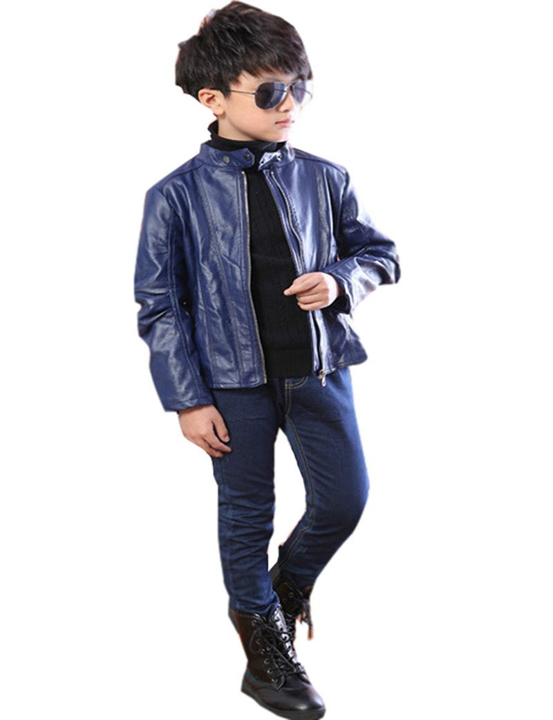 425bea5f00873 Click to Buy    Baby Boys Leather Jacket Kids and Coats Spring Autumn