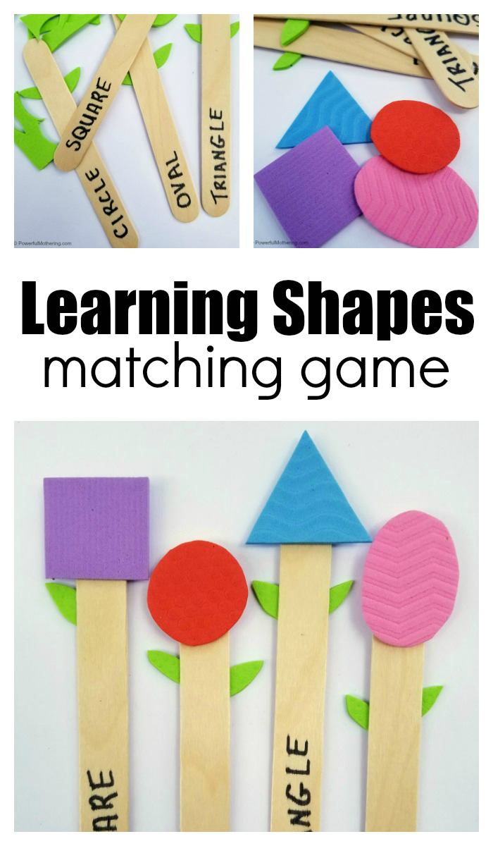 Make a Matching Game for Kids Learning Shapes Learning