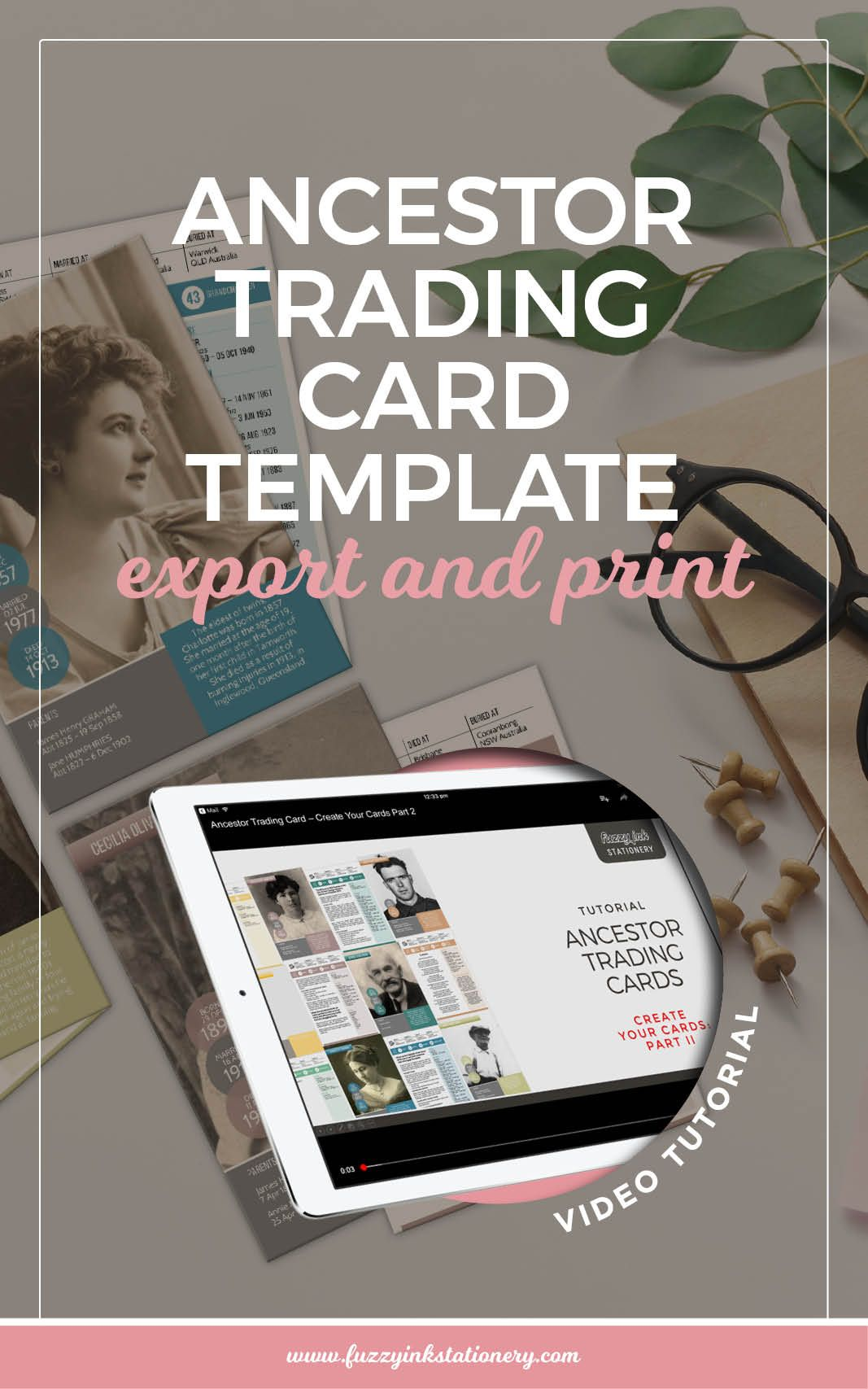 Ancestor Trading Card template: export and print | Trading cards ...