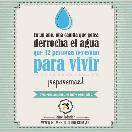 Conciencia HS: conservemos el agua - #home_solution #ecologia #medioambiente