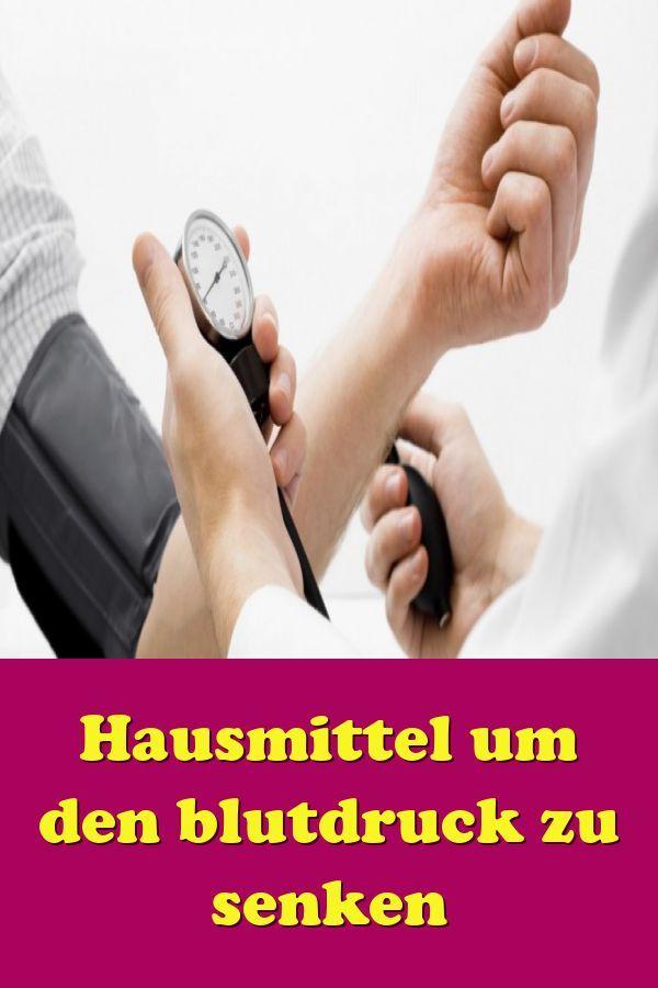 Hausmittel um den Blutdruck zu senken - Blutdruck