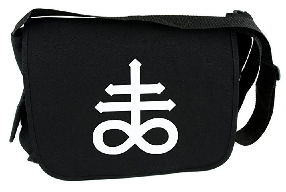 Leviathan Cross Crux Sat Messenger Bag Crossbody Handbag Black Sulphur