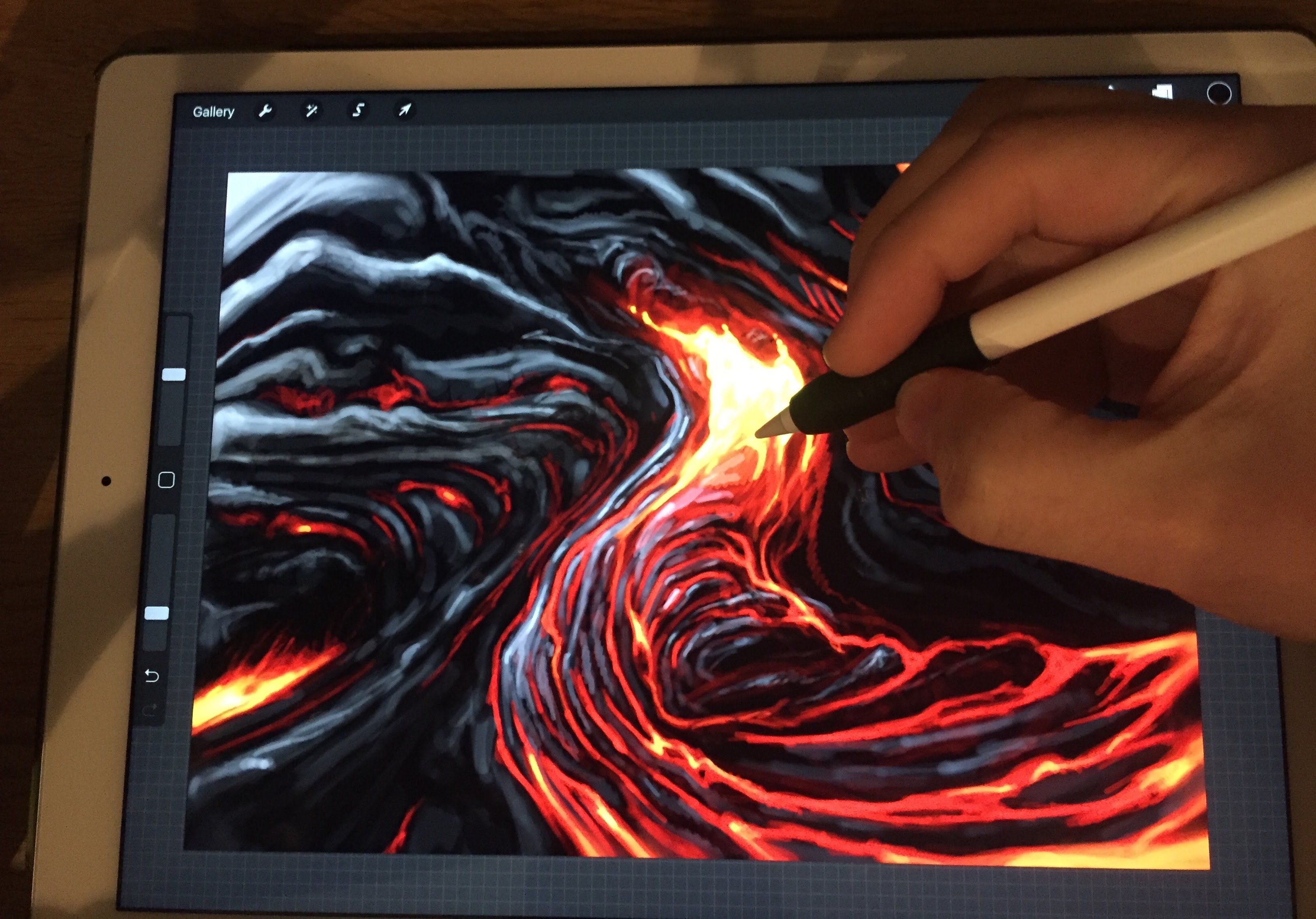 Apple Pencil drawing HOW TO PAINT LAVA iPad Pro 12.9