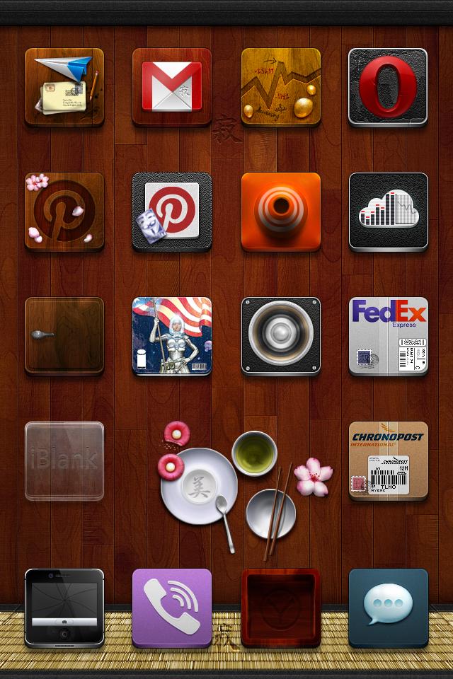Jaku Homemade Icons Package + Wallpaper - iPhone by iGeriya