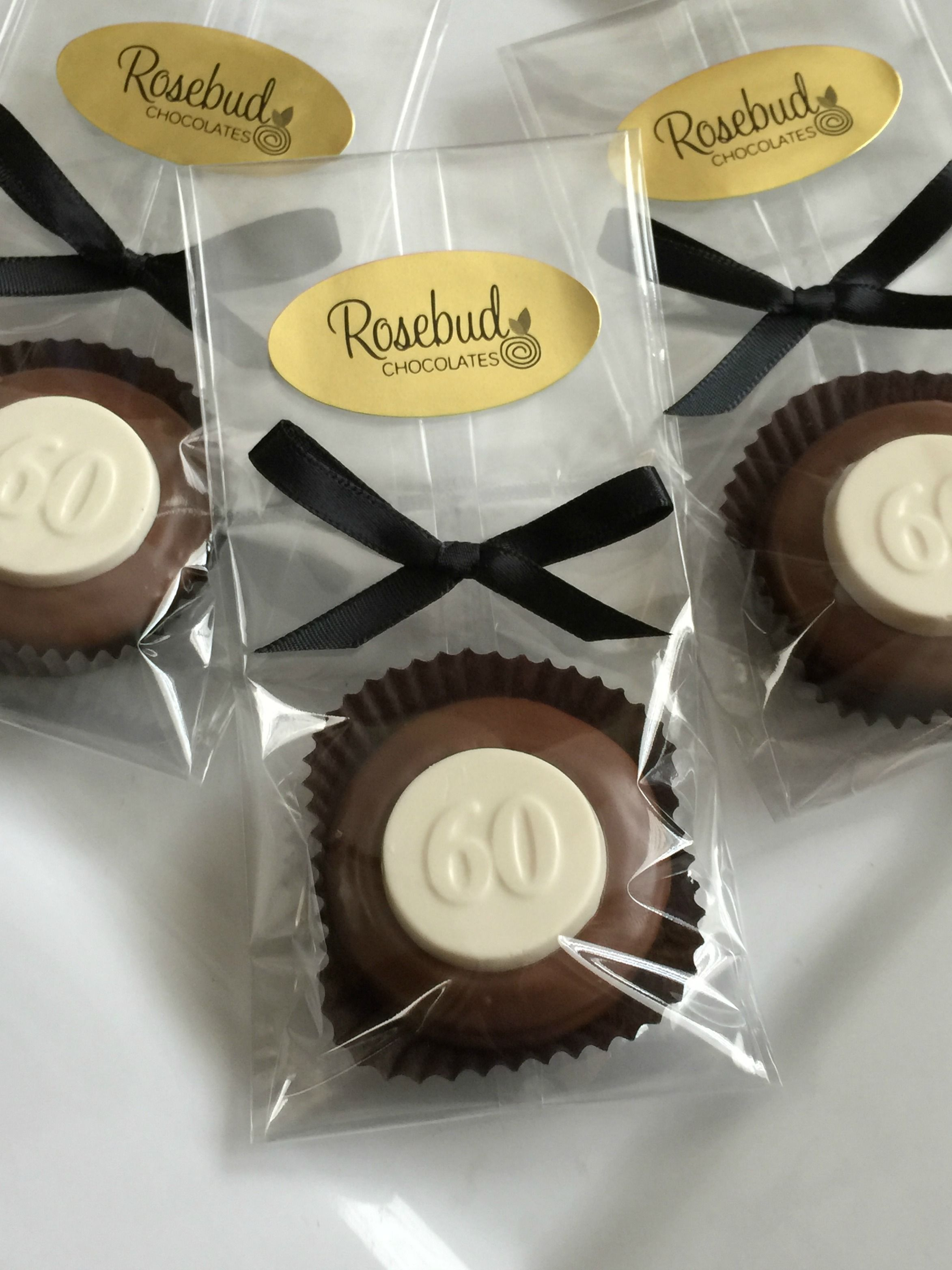 60th Birthday Party Favors Milk Chocolate Hand Dipped Oreo