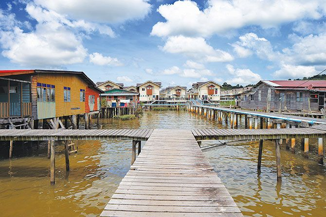 Kampong Ayer, Brunei, is the largest village on the water, which ...