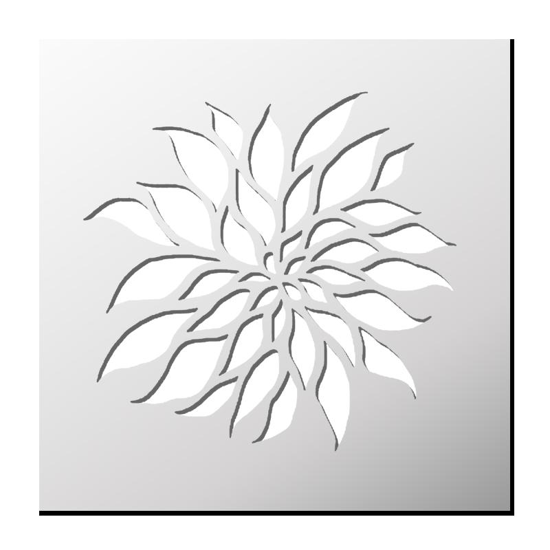 pochoir fleur boutique pochoirs stickers pinterest pochoir fleur pochoir et fleur. Black Bedroom Furniture Sets. Home Design Ideas