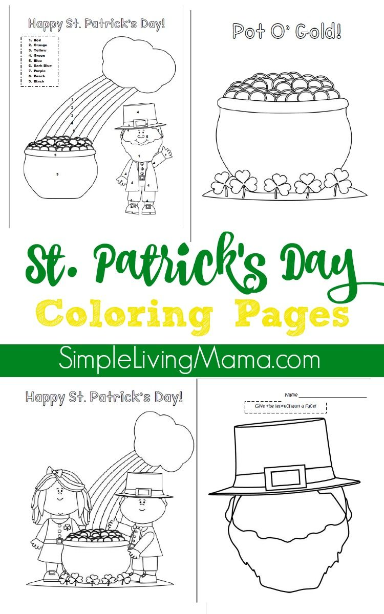 St. Patrick\'s Day Color By Number Page and Coloring Pages | Simple ...