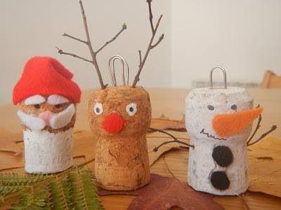 Niedliche Weihnachtskorken Korken Weihnachten Basteln Decor