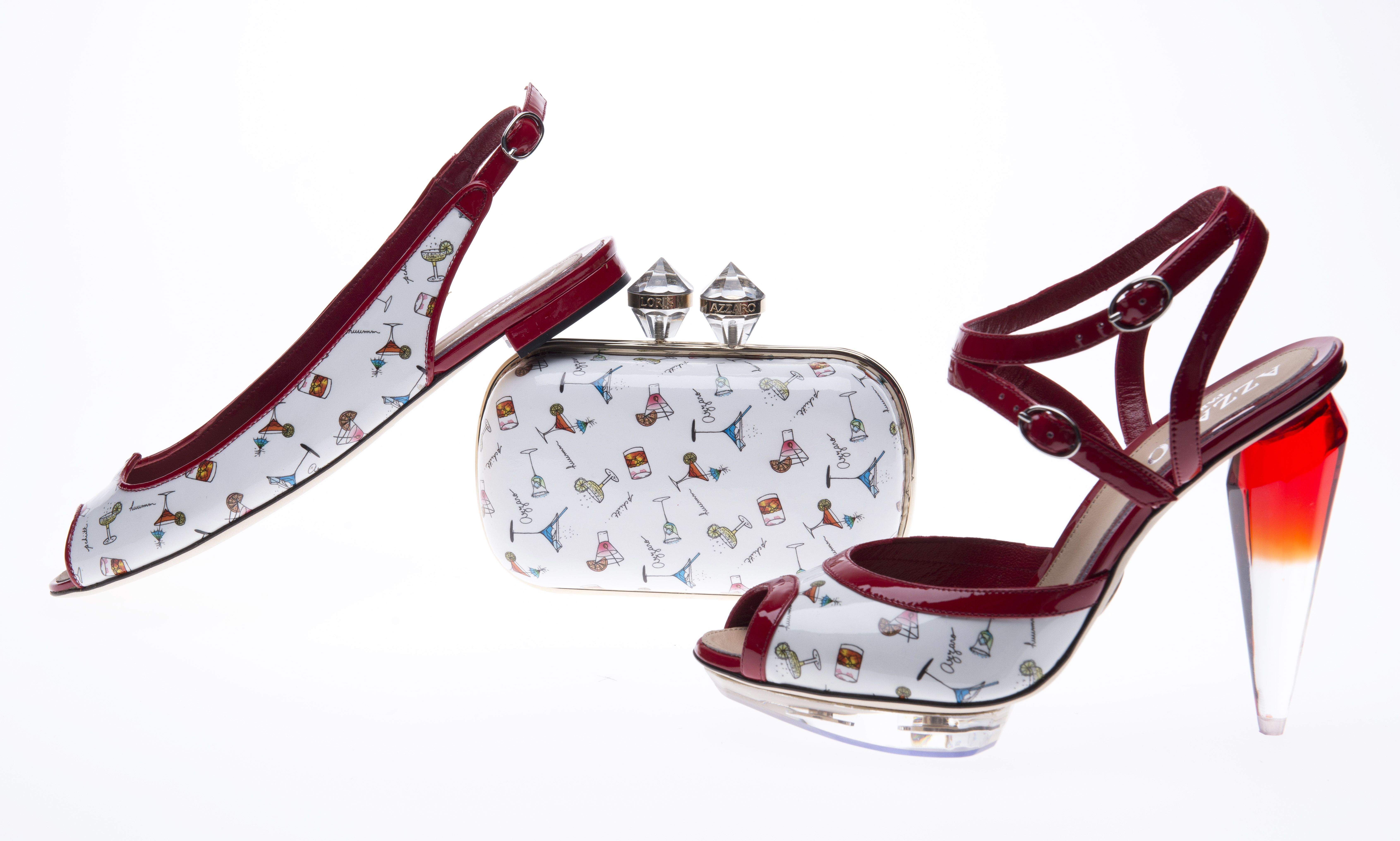 Azzaro Spring Summer 2013 :   NIMES Flat sandals, NARCISSE Clutch & NAPOLITAINE Sandals #Azzaro