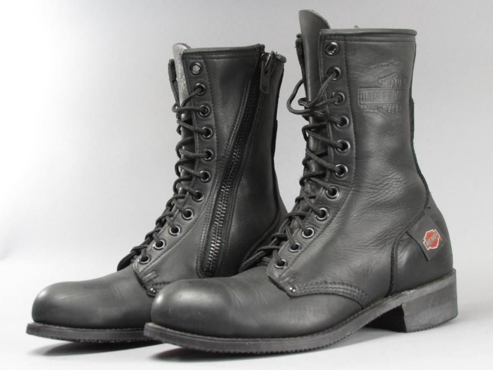 Men's Harley Davidson Vintage Lace Up Motorcycle Boots size 9 Made ...