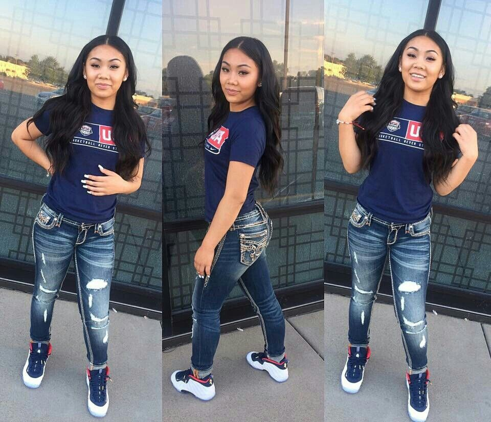 2019 year for women- Clothes swag for girls with jordans photo