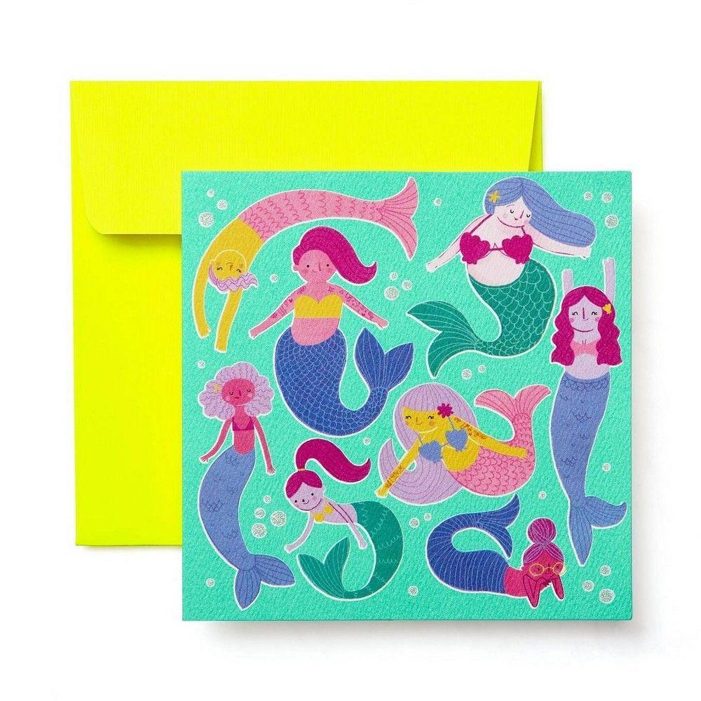 Mermaids Blank Greeting Card Print Greeting Cards Blank Greeting Cards Blank Cards