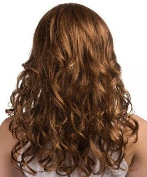 Half Curly Brown Hairs Color Ideas Ideal Hairstyles For Thick Hairs
