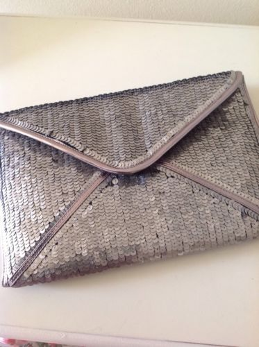#Lovely accessorize #burnished silver/ bronze sequin #clutch bag barely used,  View more on the LINK: http://www.zeppy.io/product/gb/2/252402376721/