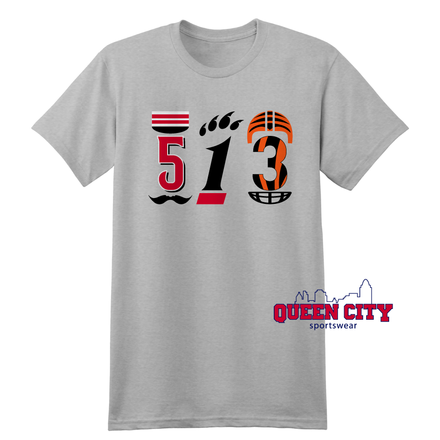 513 (Cincinnati) tshirt Featuring nods to the teams