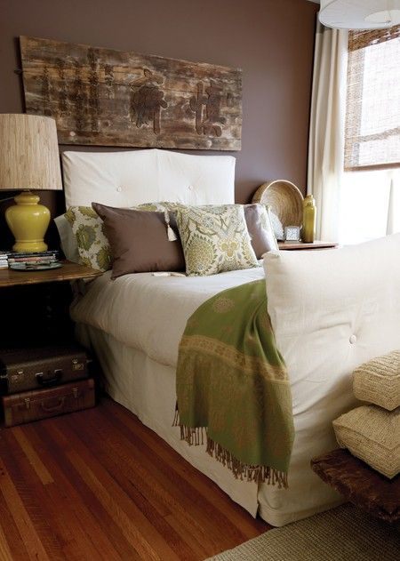 Green And Brown Bedroom Fascinating Photo Gallery Stylists' Homes  Bedrooms Stylists And Condos Decorating Inspiration