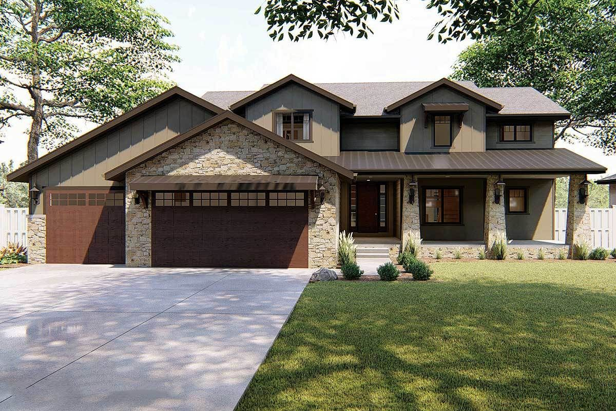 Plan 62550DJ Unique TwoStory Traditional Home (With