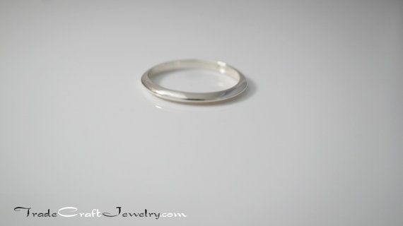 2mm Knife Edge Sterling Silver Ring .925 Plain by Tradecraft