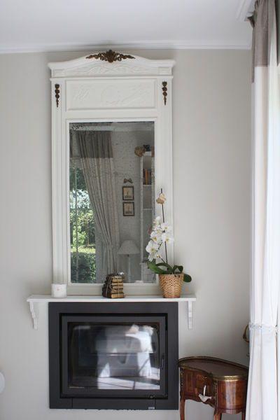 Un beau trumeau en chêne daté de 1912vite patiné et posé au - pose de porte interieur
