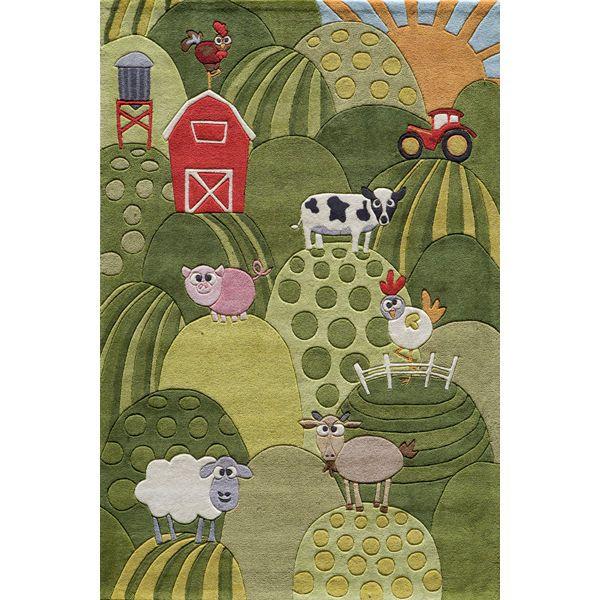 such a cute farm rug!
