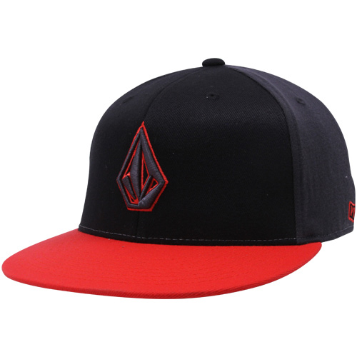 ddcffb05ea4 Volcom 2stone 210 Fitted Hat - Black red