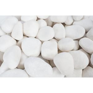 Rain Forest 3 In To 5 In 30 Lb Large Flat Egg Rock Caribbean Beach Pebbles Rfferl1 The Home Depot Landscaping With Rocks White Pebbles Rainforest