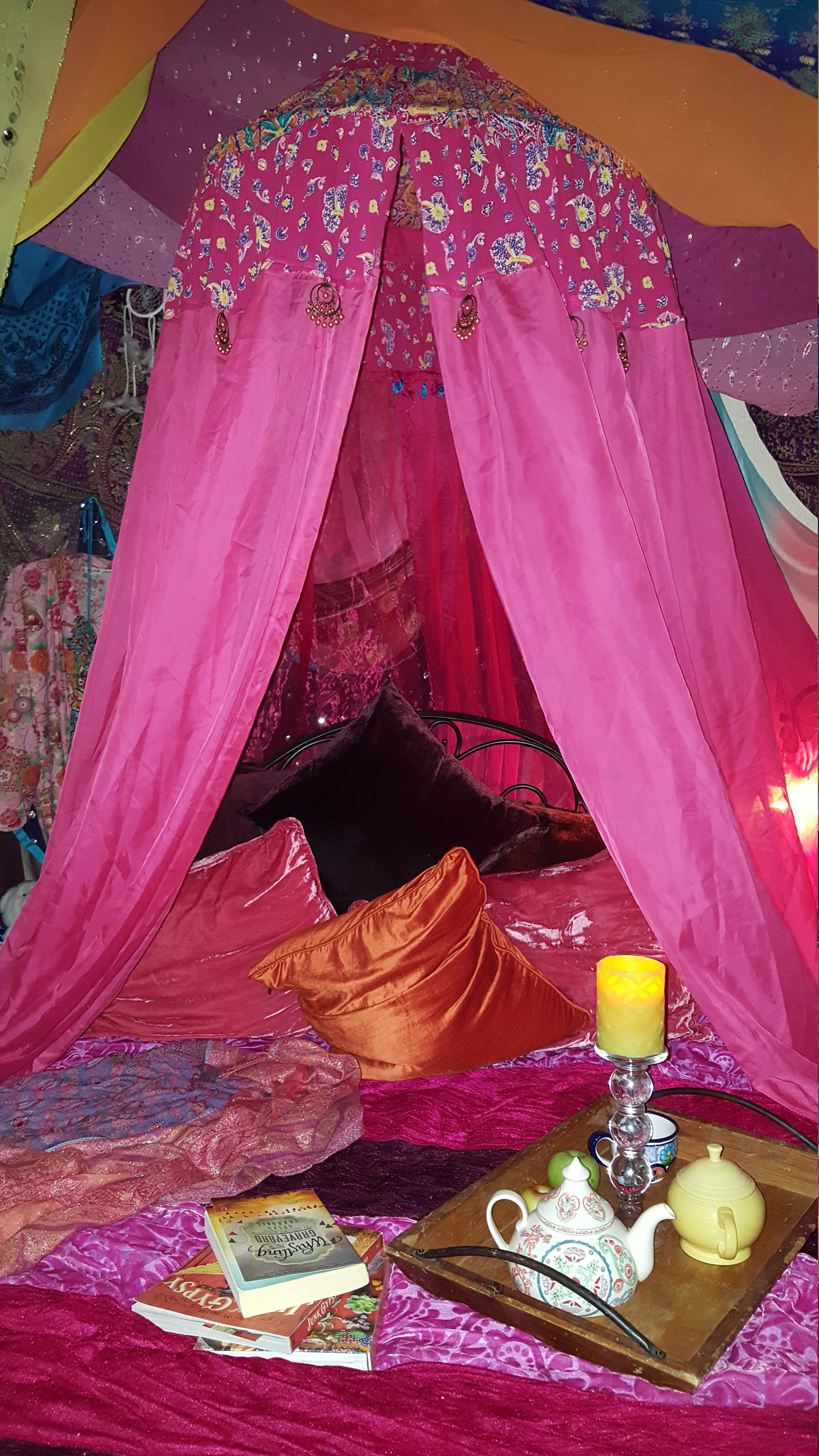 Bohemian Bed/Chair Canopy - Meditation Tent - Bohemian ...