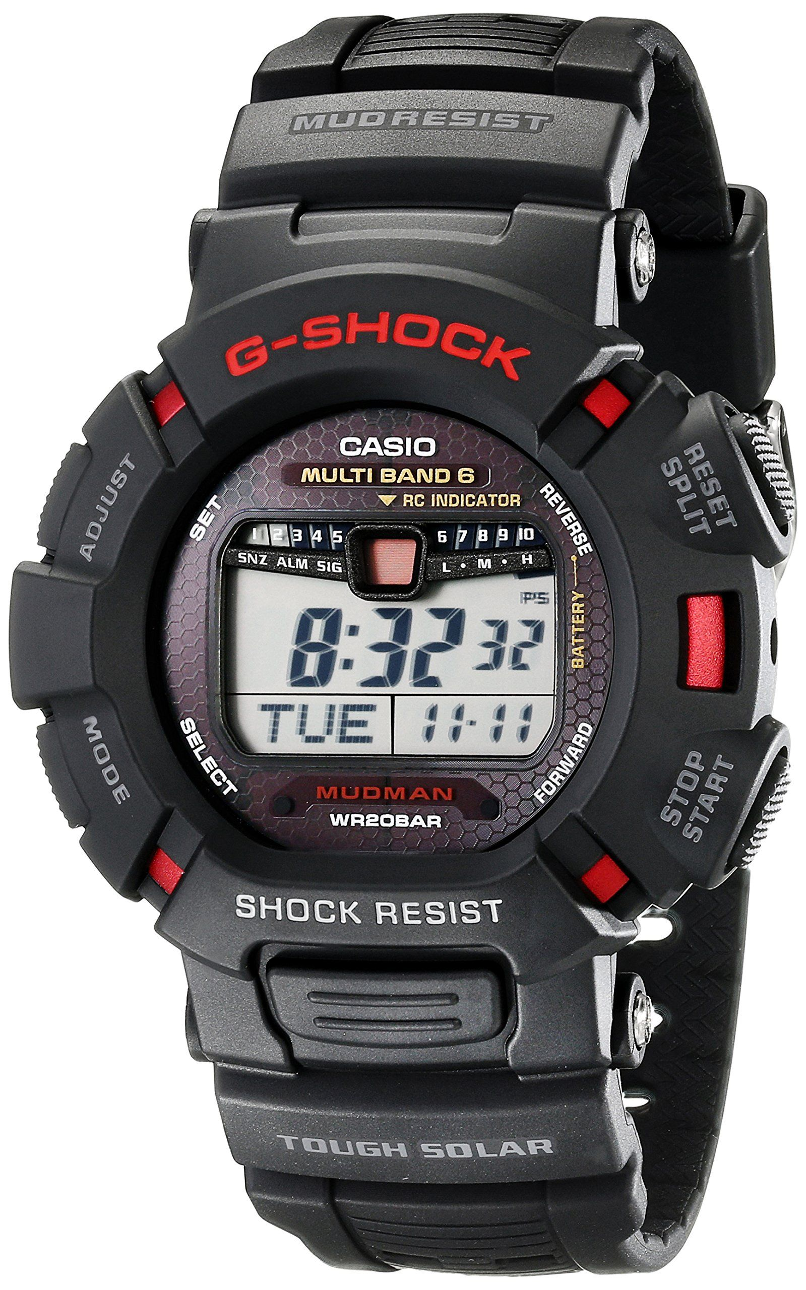 d9384d2b938 Discount Casio Mens GW9010-1 G-Shock Mudman Solar Atomic Rally Watches -