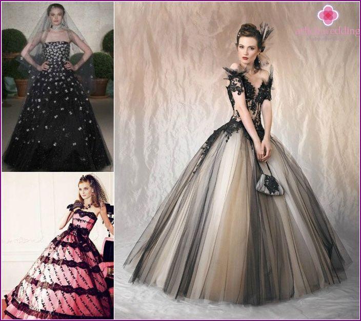 Black veil brides - decor ideas, what is suitable dress and ...