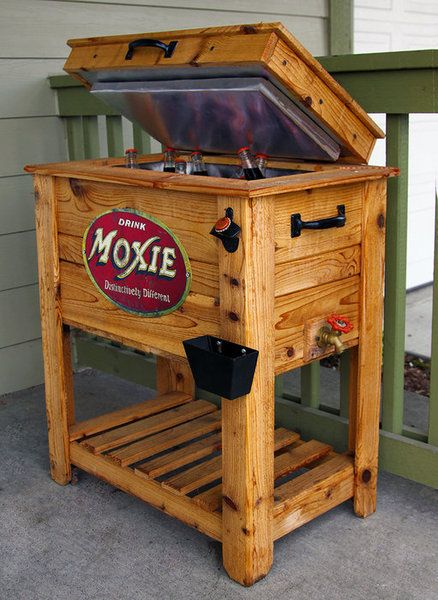 Wood Patio Cooler Plans: Rustic Cedar Fence Picket Deck/Porch Cooler/Icebox