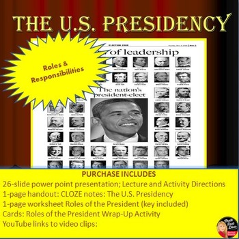 The US Presidency Lecture, Activity and Game Notes template - oath of office template