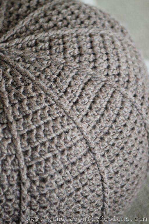 Free Crochet Floor Pouf Pattern Crochet Pinterest Floor Pouf