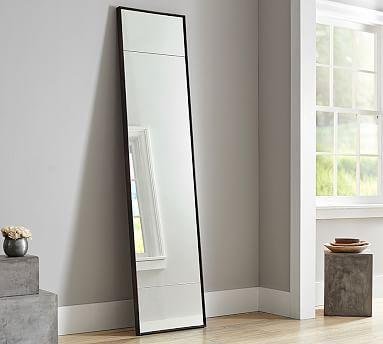 Berke Narrow Iron Frame Floor Mirror In 2020 Floor Mirror Oversized Floor Mirror Pottery Barn Decor